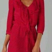 Nanette Lepore Red Silk Dress Photo