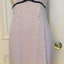 Nanette Lepore Silk Dress 4 Blush Pink Polka Dot 50's Retro Ruffle Hem Lined Photo