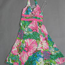 Nanette Lepore Silk Halter Dress Size 0 Bright Colorful Floral  Anthropologie Photo
