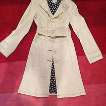Nanette Lepore Solid Ivory Raincoat Size Zero Photo