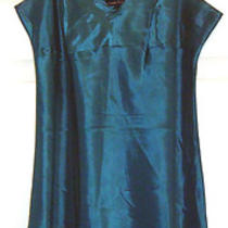 Nanette Lepore Sz S 4  Shimmer Aqua Teal Sexy Slip Cover Up Taffeta Dress  Usa Photo