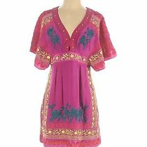 Nanette Lepore Women Pink Casual Dress 4 Photo