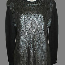 Narciso Rodriguez Designnation Black Cable Knit Sweater S  Photo