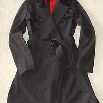 Narciso Rodriguez for Designation  New Black  Taffeta Trentch Coat S Photo