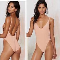 Nasty Gal Alina Blush Swimsuit Sz M New Photo