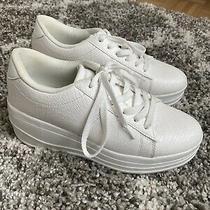 Nastygal Tic Croc Platform Sneakers Size 9 Excellent Condition Photo