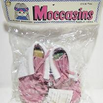 Native American Indian Baby Toddler Girl Child Doll Moccasins Shoes Pink Size 4 Photo