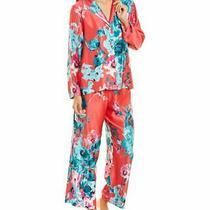 Natori 2pc Bloom Notch Pajama Set Women's Pink M Photo
