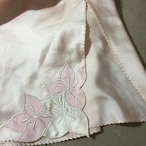 Natori Lingerie Pale Pink Half Slip Sz Small Beautiful Embroidered Flowers S Vtg Photo