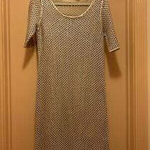 Natori Lucena Womens Gilded Sweater Dress Size M Gold Color 2 Pcs Excellent Cond Photo