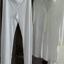 Natori Pajama Pant Set  Luxury White Size Large  Photo