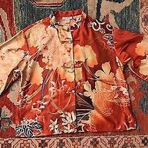 Natori Pajama Top M Chinese Oriental Print Night Clothes Shirt Photo