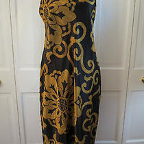 Natori Private Luxuries Black and Gold Long Nightgown  Large  Nwt - 110 Photo
