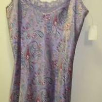 Natori Private Luxuries Small Chemise Nightgown Babydoll Nighty Violet Paisley Photo