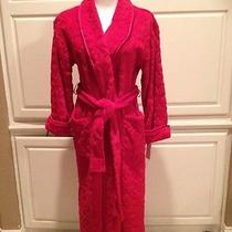 Natori Private Luxuries Wrap Freece Bath Robe Sz S in Red. Nwt. Photo