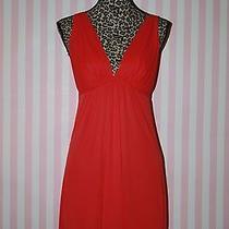 Natori Solid Orange Sleeveless Polyester Nightgown S Photo