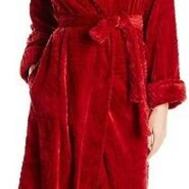 Natori Womens Divine Robe Bed Red Size Xl Patch Pockets Wrap Fleece 80- 772 Photo