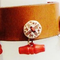 Natural Leather Fashion Bracelet . New Photo