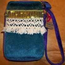 Natural Life Wrist Wallet Nwt Blue & Purple on the Inside  6 Slots  Photo