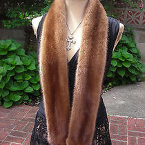 Natural Light Mahogany  Mink Fur Scarf  Wrap   Made in the Usanew Item Photo