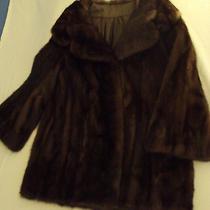 Natural Mink 3/4 Jacketvintage (Slightly Used)aarons Fursbasic Coatbrownm/l Photo