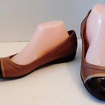 Natural Soul Naturalizer Sz 9.5 Cap Toe 2 Tone Brown Mary Jane Loafer Flats Shoe Photo
