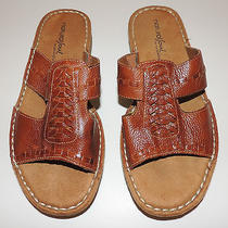 Natural Souls Naturalizer Dalton Sandals Brown Leather Shoe Size 7 M Slide Weave Photo