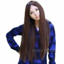 Natural Synthetic Maple Long Straight Heat-Resistant Ladies Wigs Photo