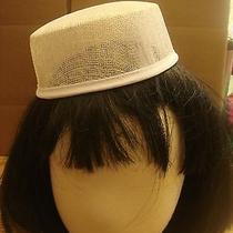 Natural White  Small Pillbox Hat Base for Dance Costumes Photo