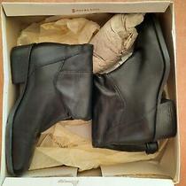 Naturalizer 6.5 M Cuff Mid-Calf Black Leather Boots Photo