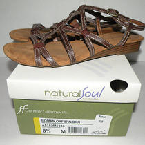 Naturalizer 8.5 M  Natural Soul  Roman   Oxfbrn/ Brn Brown Leather Wedges Photo