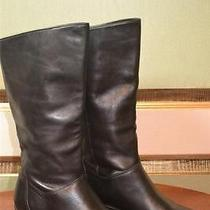 Naturalizer Black Leather Boot Size 7 M Photo