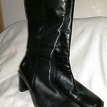 Naturalizer Black Leather Square 8.5 Ladies Fashion Work Dress Boots Photo