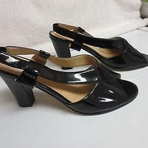 Naturalizer Black Patent Leather Open Toe Strappy 3