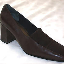 Naturalizer     Brown Leather/ Fabric Dress/ Casual Stack Heel Shoe 9w Photo