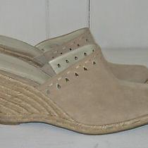 Naturalizer Candra Women's Toffee Tan Leather Wedge Heel Clog Shoe Sz 9 N Photo