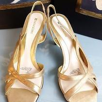 Naturalizer Comfy Soft Gold Mother of the Bride Wedding Shoes Sz 10m A7 Photo