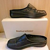 Naturalizer Damon Black Leather Clogs / Mule / Slide on Size 8.5 M Very Clean Photo