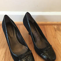 Naturalizer 'Kirby' Black Leather Suede Pump Heel - Sz9 Photo