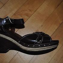 Naturalizer Langston Wedge Sandal Brown Size 8.5w Photo