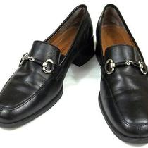 Naturalizer Loafers Womens Size 6.5 M Solid Black Leather Shoes Photo