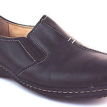 Naturalizer Malvina Black Leather Slip on Flats Loafers Women's Shoes 8m Used Photo