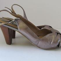 Naturalizer N5 Comfort Lolita Women's Pewter Leather Sandals Size 8.5n  Euc Photo
