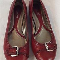 Naturalizer N5 Comfort Montage Red Leather Flats Women's Size 11w Guc Photo