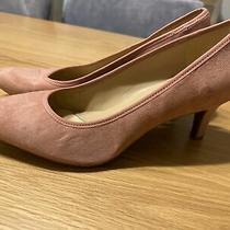 Naturalizer Natalie Slip on Pump Heels Shoes Blush Pink Suede Size 9.5 Photo
