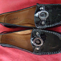 Naturalizer Natural Soul Shiny Black Loafers W/ring Decoration Hardly Worn 8m Photo