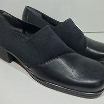 Naturalizer--New--Black Microfiber & Leather Slip-on Flats Loafers--Women's 6.5 Photo
