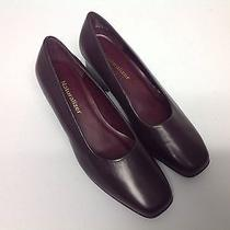Naturalizer New No Box Brown Leather Pumps 7 W Chunky Heel Classic Look  Photo