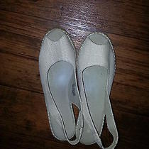 Naturalizer Off White Wedge Sandal 10 M Photo