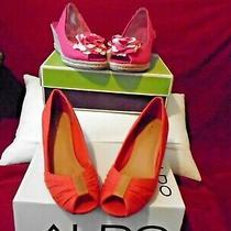 Naturalizer Pink Aldo Orange Open Toe Wedge Heel Sold in a Lot of 2 Photo